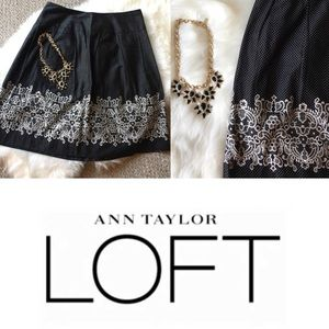 Pretty Ann Taylor LOFT Polk-a-dot Skirt